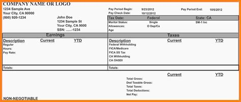 1099 pay stub template free sunposition org