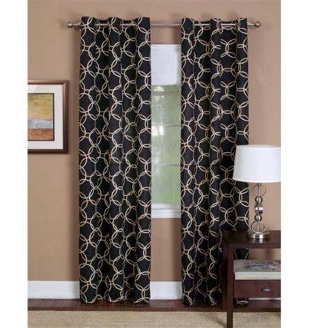 long black curtains 84 quot long black infinity grommet top curtain panel by achim