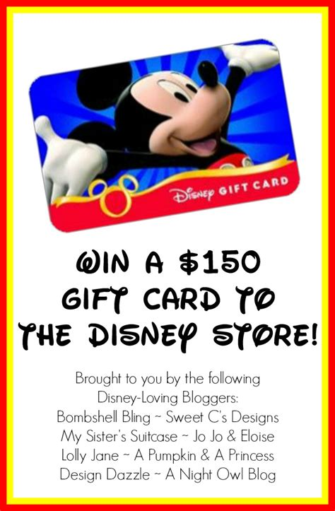 Win Disney Gift Card - disney disney disney and 150 disney gift card giveaway design dazzle