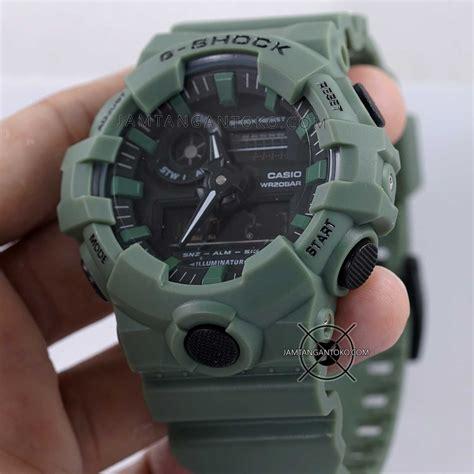 gambar g shock ori bm ga700uc 3a hijau army bagian sing