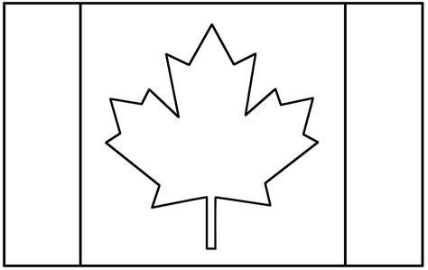 printable canadian flag to color clipart best