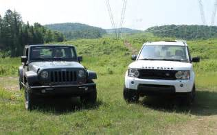 Jeep Vs Range Rover Jeep Wrangler Vs Land Rover Lr4 Mud Or Chagne