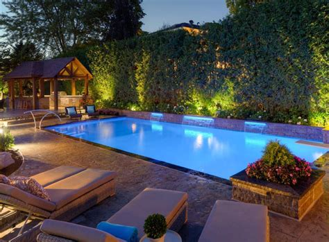 landscape lighting near pool cool pool landscape lighting ideas pools for home