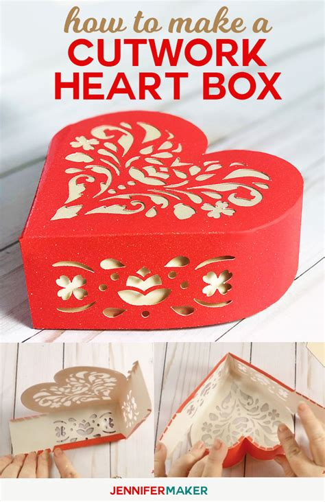 how to make cut out cards 3d box with cutwork to show your maker