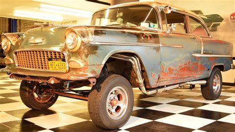 55 Chevy Bel Air Gasser Hitam racer 1955 chevrolet bel air gasser