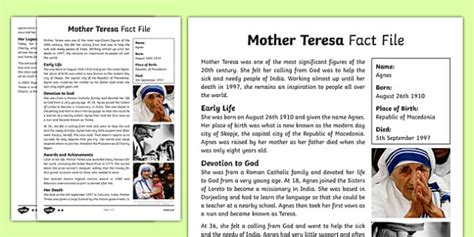 mother teresa biography bahasa indonesia mother teresa differentiated fact file