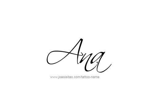 ana tattoo name designs