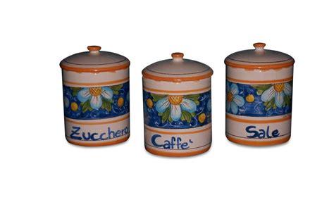 barattoli cucina barattoli da cucina set 3 pezzi in ceramica barattoli