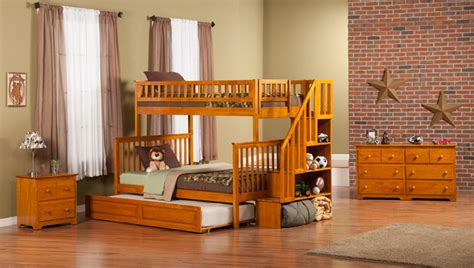 youth bunk beds with stairs atlantic woodland staircase bunk bed with