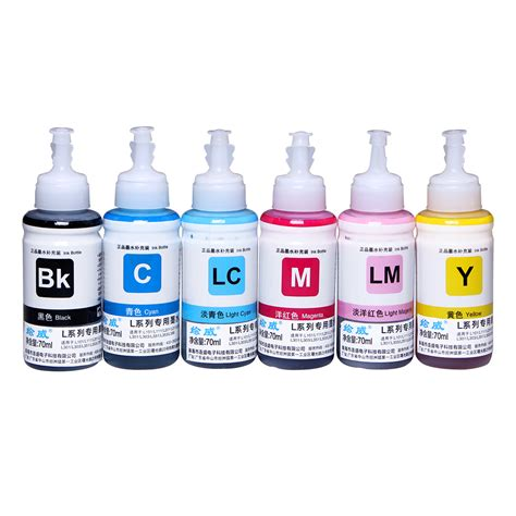 1 Set Tinta Dye Ink Korea Compatible Refill Printer Hp 100ml Cair Cmyk popular epson l800 ink buy cheap epson l800 ink lots from