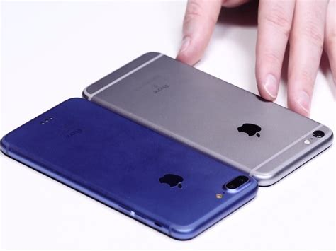 iphone 7 and iphone 7 plus shown on leaked blue gold and 3 gb of ram