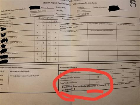 Report Card Template Palm County by The Opt Out Florida Network