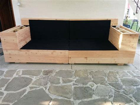 diy outdoor sofa diy pallet outdoor sofa with cushion 99 pallets