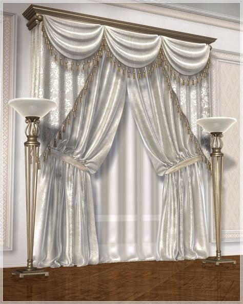 classic draperies classic curtains set1 3d models grayclouddesign