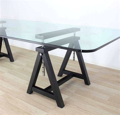 Glass Top Conference Table Large Glass Top Conference Table For Sale At 1stdibs