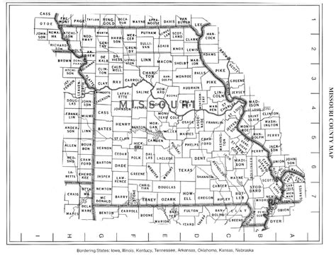 missouri map county lines detailed missouri state county map missouri state
