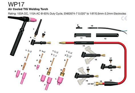 tig torch parts diagram tig torch parts diagram best free home design idea