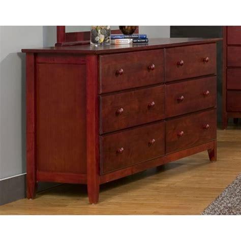 Light Cherry Bedroom Furniture Portola 6 Drawers Dresser Light Cherry Dcg Stores