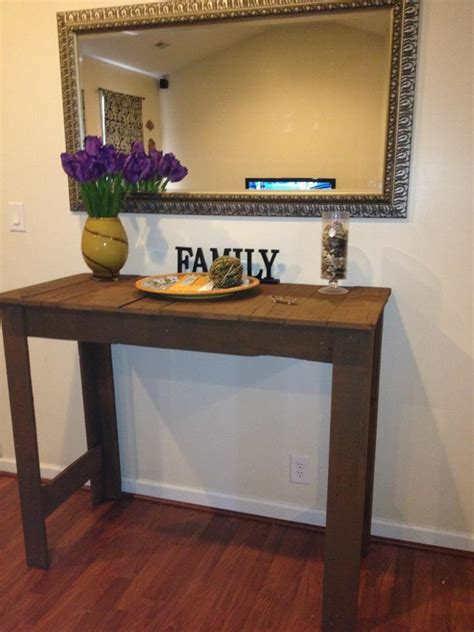How To Make Hallway Table