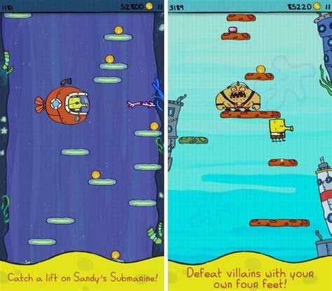 doodle jump spongebob free doodle jump spongebob squarepants is apple s free app of