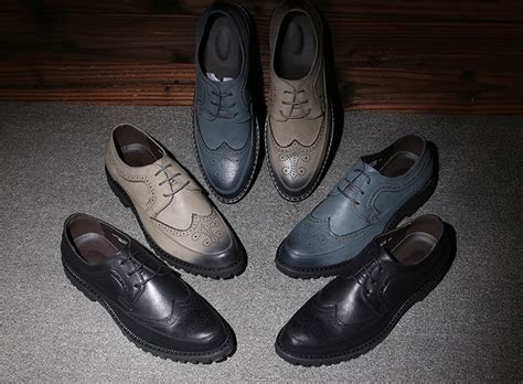 brogue shoes style carved leather shoes mens