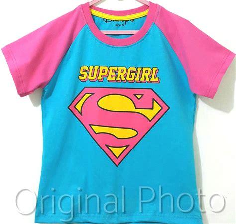 kaos supergirls   disneys grosireceran baju anak