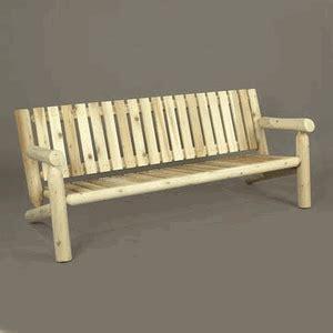 rustic cedar log style wood garden bench reviews wayfair 6 cedar log style garden settee