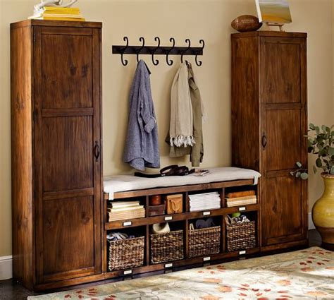 foyer furniture sets 3 locker tower bench set pottery barn