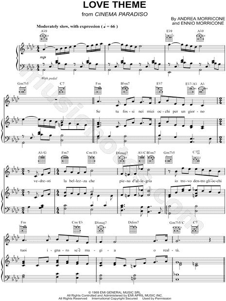 love themes classical music josh groban quot love theme from cinema paradiso quot sheet music