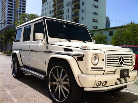 customized g wagon white mercedes g wagon with custom rims cars on
