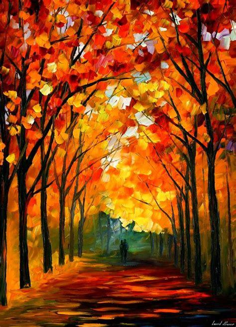 farewell to autumn by leonid afremov by leonidafremov on deviantart