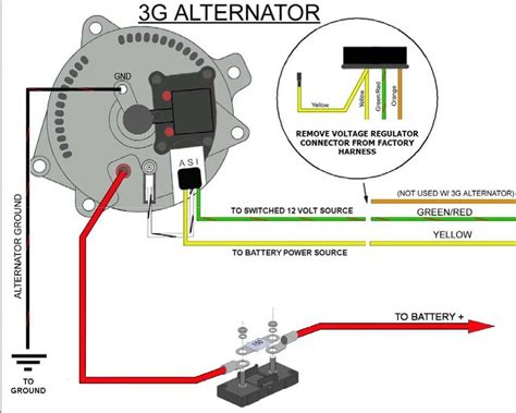 simple alternator wiring diagram efcaviation