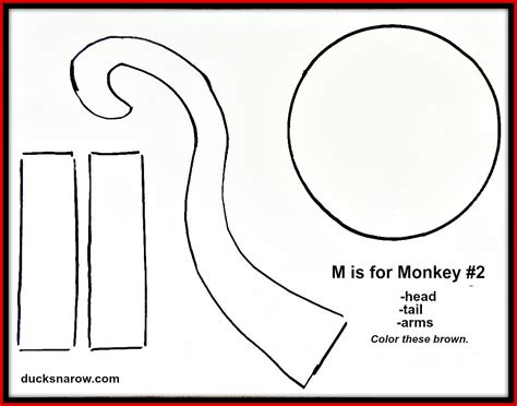 monkey paper bag puppet template preschool crafts monkey puppets
