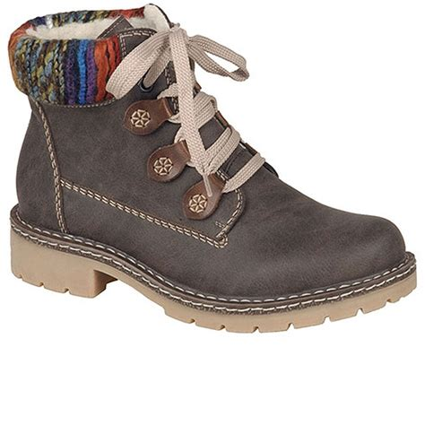 rieker jaunt s brown ankle boots charles clinkard