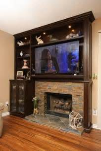 built in entertainment around fireplace entertainment