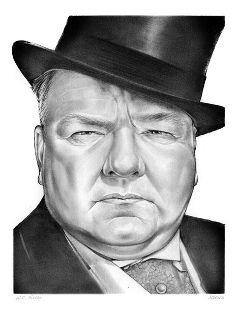 W C Fields Sketches by Wc Fields Drawing By Greg Joens