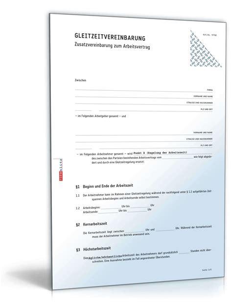 Vorlage Kündigung Arbeitsvertrag Bitte Aufhebungsvertrag Zusatzvereinbarung Gleitzeit Vorlage Zum