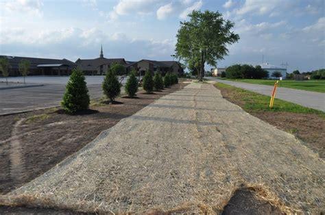 Straw Landscape Matting - faq and tips on seeding grass putting straw or