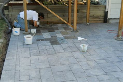 Fabulous Ways To Stain Concrete Patio All Home Design Ideas Staining Patio Pavers