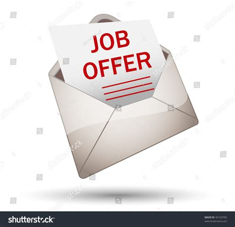 Offer Letter Icon Open Envelope With Offer Stock Vector Illustration 45103705