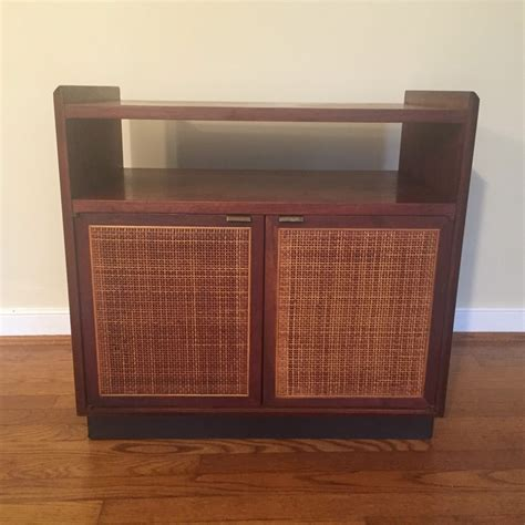 mid century modern record cabinet mid century modern walnut turntable record storage