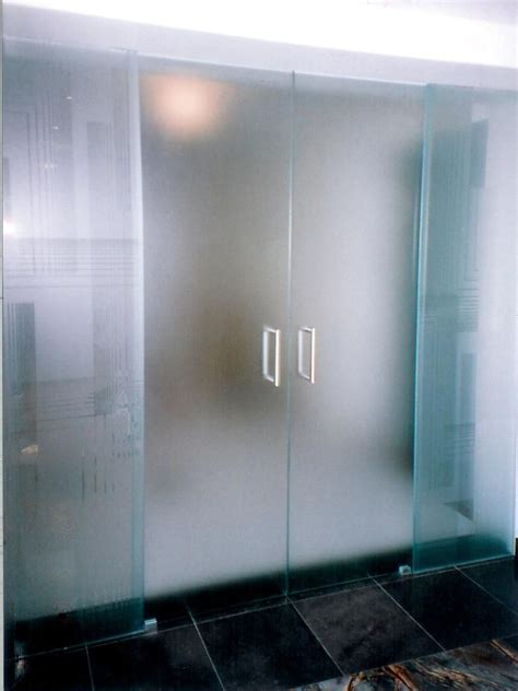 interioramazing frameless frosted glass door office