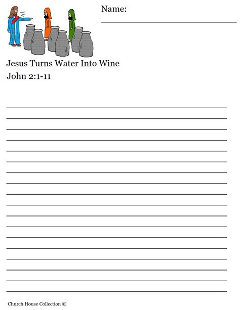 water writing paper jesus turns water into wine sunday school lesson