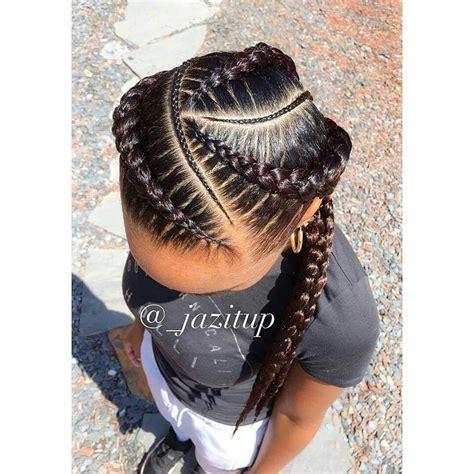 hair cut feeder feed in braids hair pinterest hair style goddess