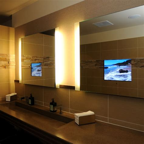 bathroom mirrors with built in tvs