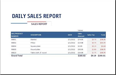 daily sales report template at http www