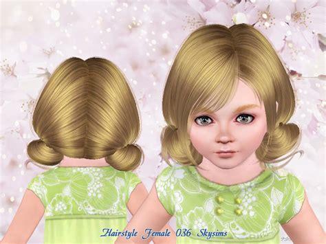 oddler hair sims 3 skysims hair toddler 036