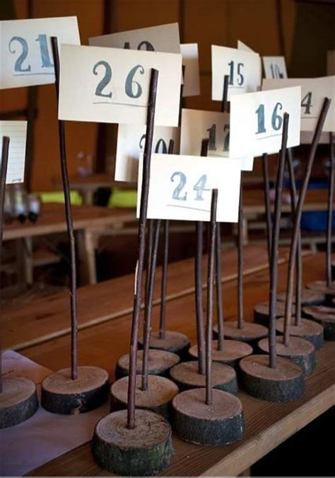 12 wooden table number holders wedding rustic shabby