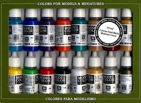 paizo vallejo model color set colors 16