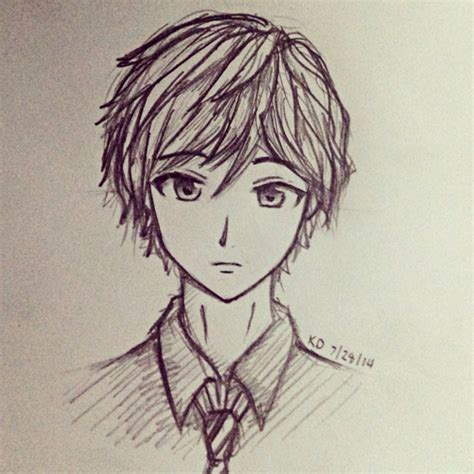 Sketches And Drawings by Anime Boy Sketch Archives Drawings Inspiration